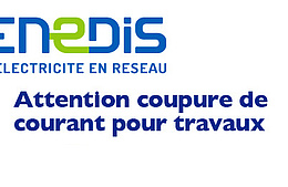 ENEDIS : coupures de courant le 24 avril