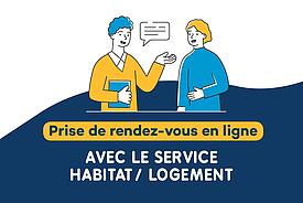 Prendre rendez-vous avec le service Habitat / Logement