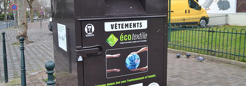 Déchets textiles à Villeneuve.