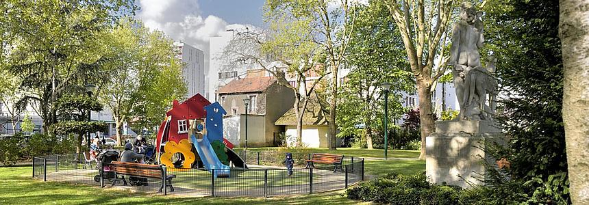 parc de l'Hôtel de ville.