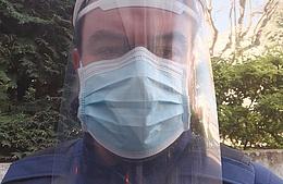 Ce Villenogarennois fabrique des visières pour se protéger du coronavirus
